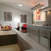 Plan de travail b ton tout sur le plan de travail cuisine - Plan de travail en beton brut ...