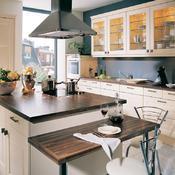 Plan de travail bois tout sur le plan de travail cuisine - Meuble de cuisine avec plan de travail pas cher ...