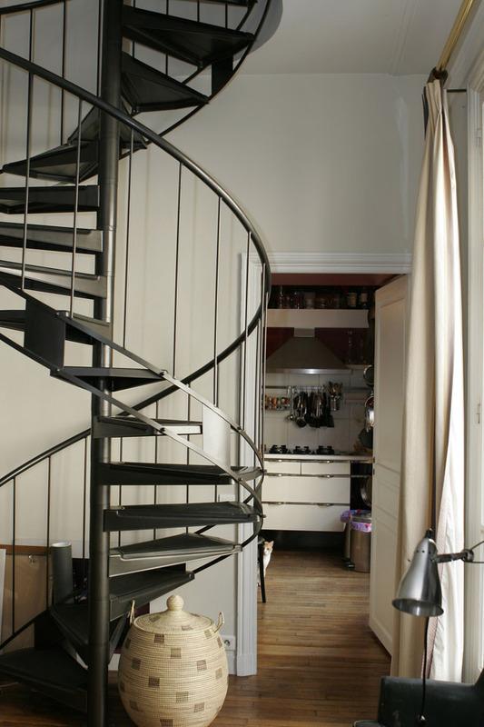 escalier helicoidal avantage