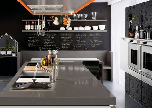 Photo le guide de la cuisine malin - Cuisine ardoise design ...