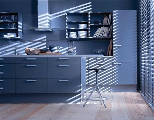 Photo le guide de la cuisine cuisine design tendance bleu for Cuisine bleu mat