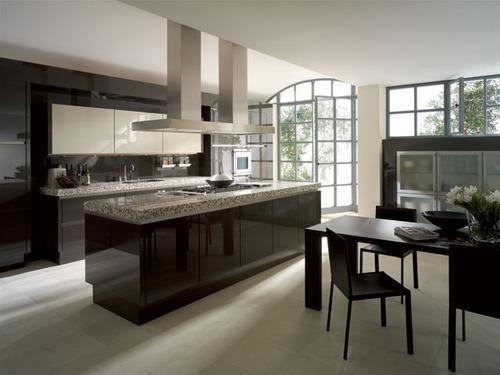 Photo le guide de la cuisine noir blanc et marbre gris for Cuisine designe moderne