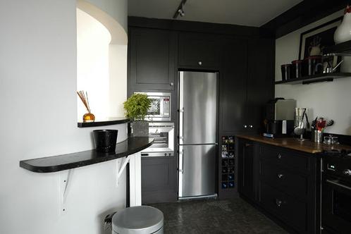 Photo le guide de la cuisine noir et blanc chacun de son c t - Cuisine en noir et blanc ...