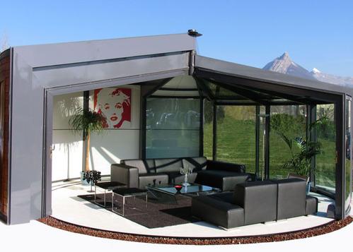 Veranda bois et alu construire veranda prix v randa - Veranda ouverte terrasse ...