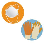 Masque et gants de protection