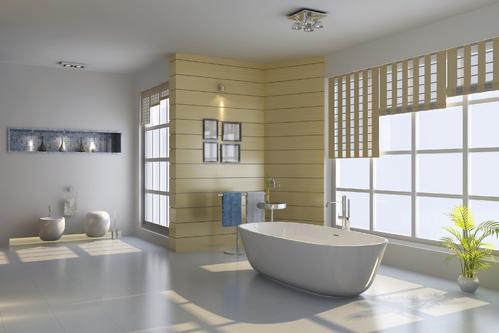 Une salle de bain minimaliste et épurée qui dégage une atmosphère de calme