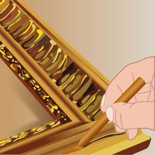 Restaurer un cadre doré