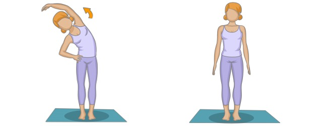 la posture de la demi lune simple yoga. Black Bedroom Furniture Sets. Home Design Ideas