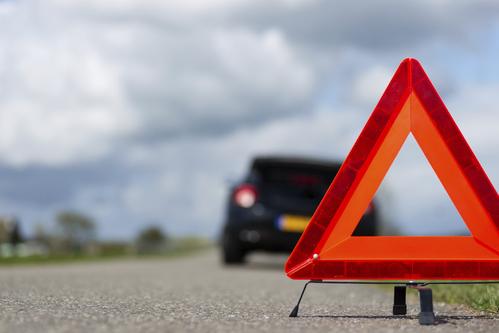 Un triangle de pré-signalisation