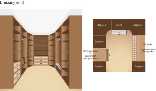 plan de dressing conseils et exemples ooreka. Black Bedroom Furniture Sets. Home Design Ideas