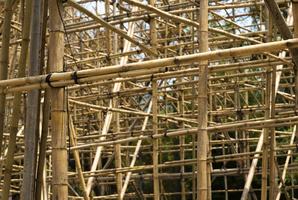 Echafaudage bambou