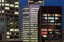 Immeuble nuit lumiere bureaux