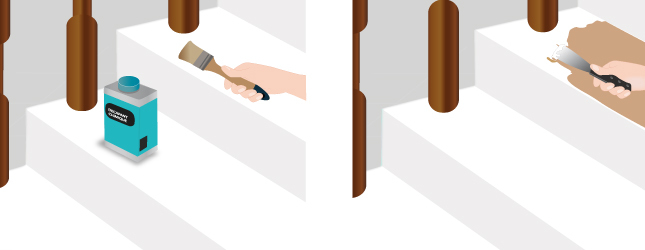 Repeindre un escalier en bois deja peint