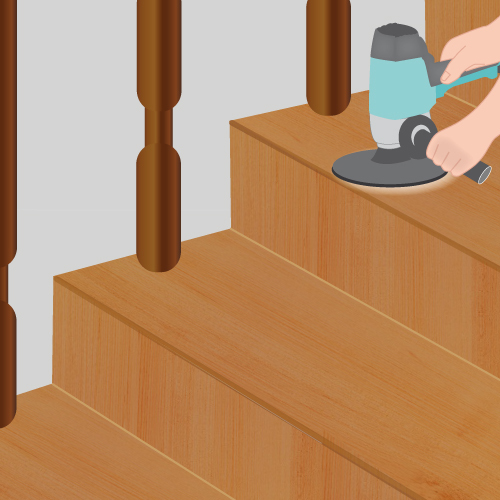 Peindre un escalier escalier for Peinture pour escalier en bois sans poncer