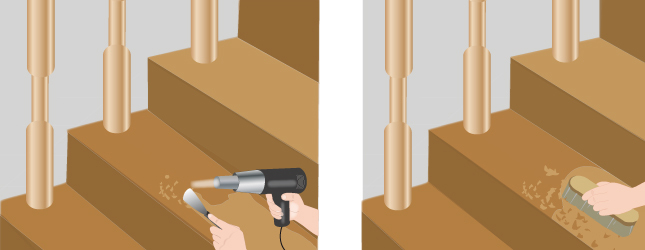 D caper un escalier escalier for Peinture sur escalier bois