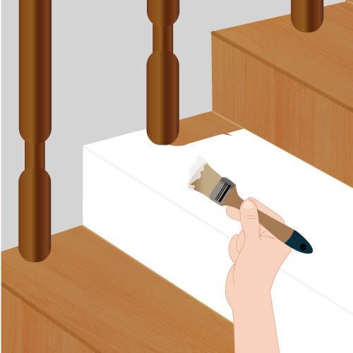 Peindre un escalier escalier for Peindre escalier en blanc