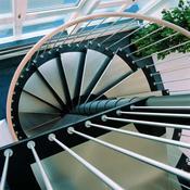 escalier helicoidal en acier