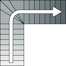 Escalier de combles infos et prix ooreka for Encombrement escalier quart tournant