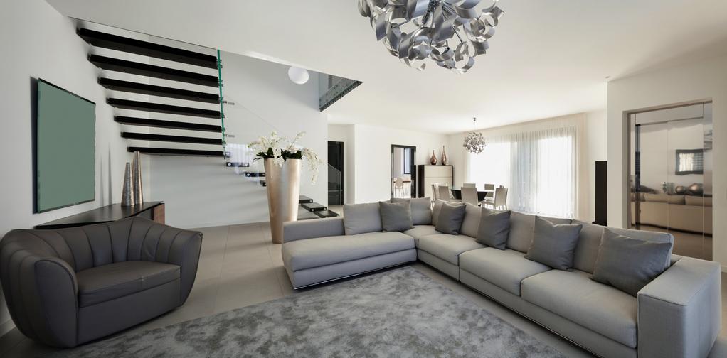Escalier ouvert formes mat riaux et prix ooreka - Escalier ouvert salon ...