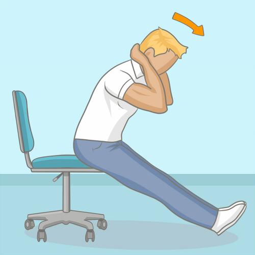 S'étirer le dos au bureau