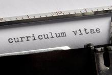 Curriculum vitae tapé à la machine