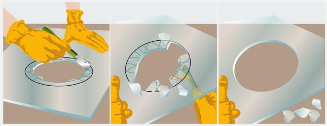 D couper du verre en rond fen tre - Faire un trou dans une vitre ...