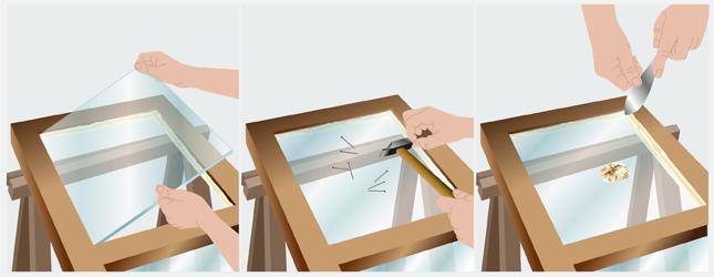 remplacer une vitre cass e fen tre. Black Bedroom Furniture Sets. Home Design Ideas