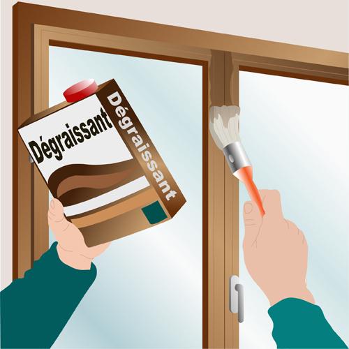 Traiter le bois d'une fenêtre