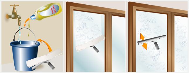 nettoyer une vitre - fenêtre
