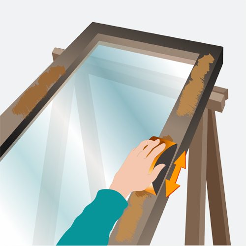 Traiter la rouille sur une fenêtre