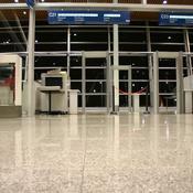 Salle d'embarquement vide