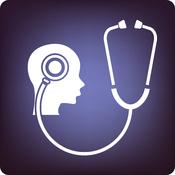 Dessin stéthoscope et cerveux humain