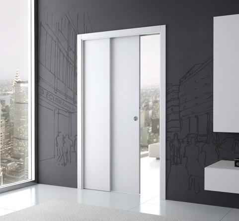 Prix Des Portes Coulissantes En Fonction Du Matériau Ooreka - Porte placard coulissante jumelé avec installation de porte blindée