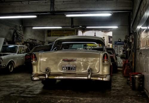 Un vieux garage