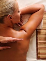 Massage après séance de hammam