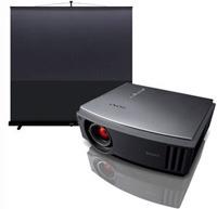 Vidéoprojecteur et écran de home-cinema