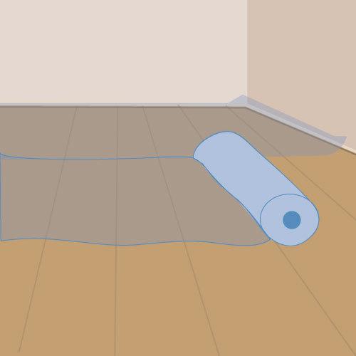 Poser des rouleaux isolants sur plancher de combles perdus for Plancher pour comble perdu