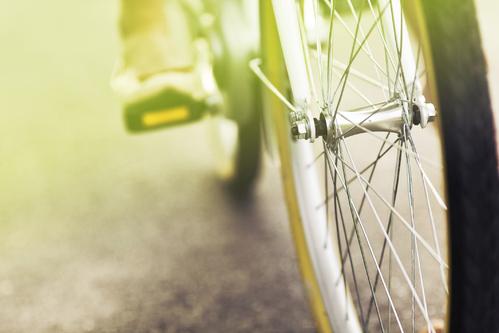 Une roue de vélo