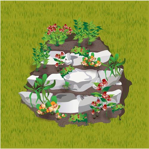Am nager une rocaille am nagement de jardin - Modele de rocaille pour jardin ...