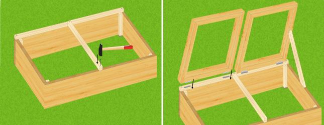 Construire un ch ssis jardinage - Fabriquer une mini serre pour semis ...