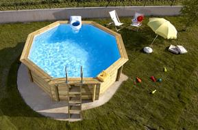 piscine bois chauffee