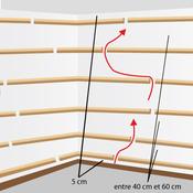 Installer une ossature en bois lambris for Poser du lambris bois au plafond
