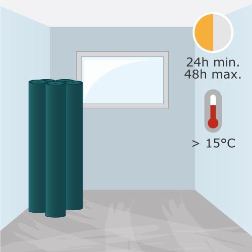 calcul et consignes avant pose d un lino lino. Black Bedroom Furniture Sets. Home Design Ideas