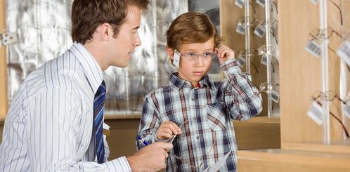 Achat de lunettes auprès d'un opticien :