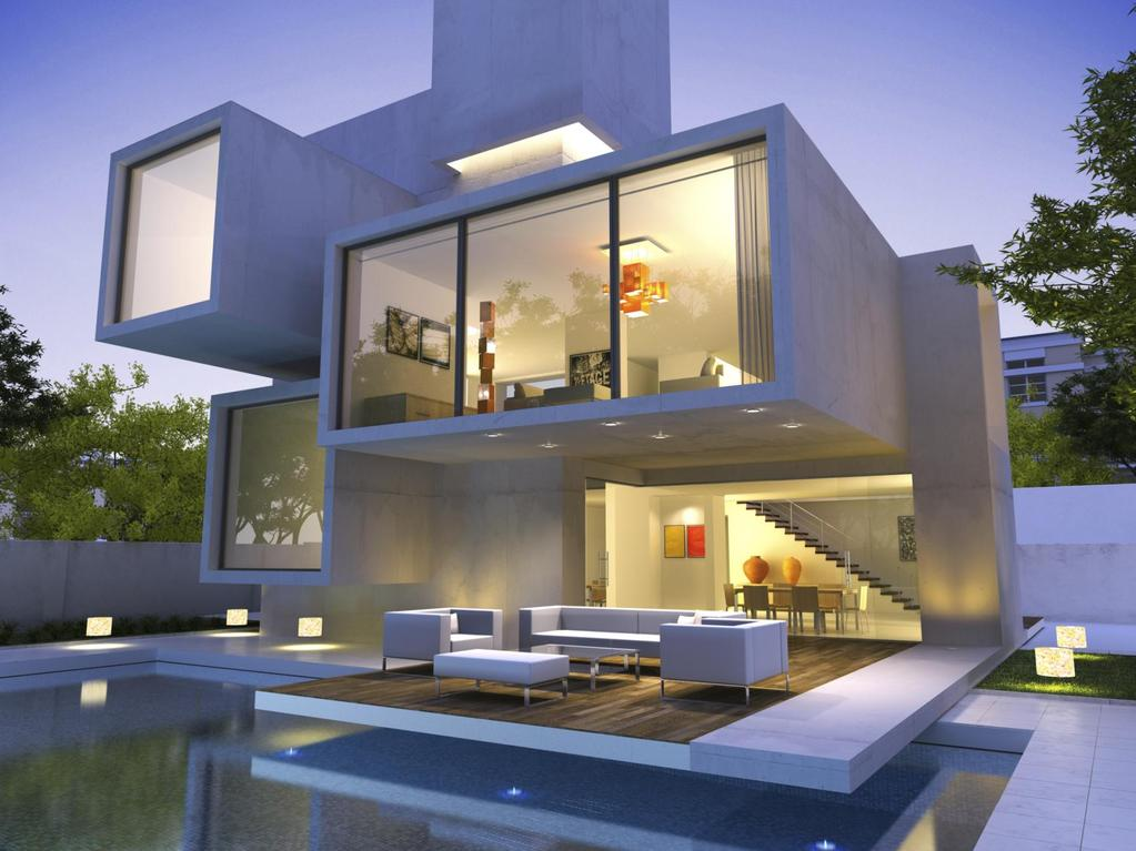 Maison cube forme minimaliste conception labor e for Plan interieur de maison cubique