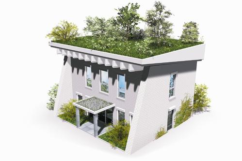 Maison a toit plat prix le prix du0027une extension de for Maison avec toit vegetal