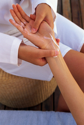 Massage mains cremes