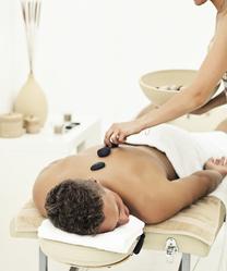 Massage pierres chaudes homme