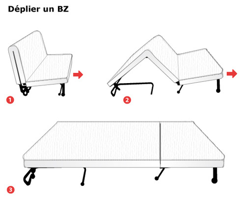 matelas bz dimensions et prix ooreka. Black Bedroom Furniture Sets. Home Design Ideas