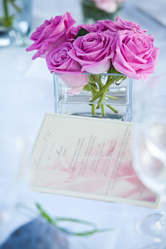 Menu avec roses
